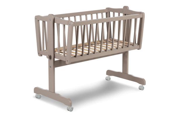 A PPM Бебешко легло - Люлка Cradle Mikkel с колелца Pine бук